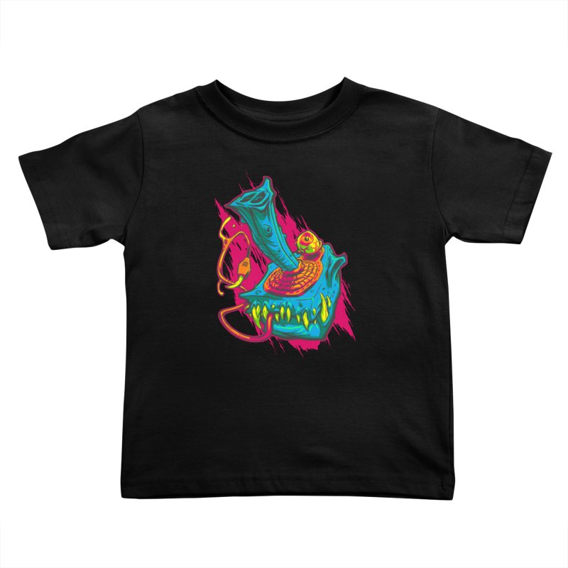 JOYSTICK MONSTER Kids Toddler T-Shirt by Beastwreck