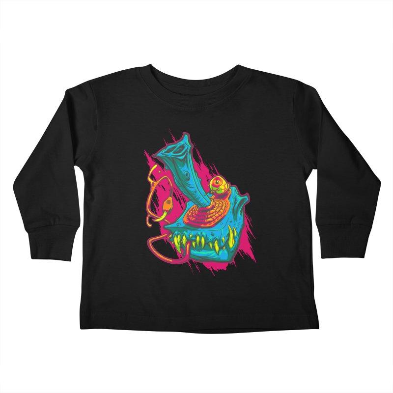 JOYSTICK MONSTER Kids Toddler Longsleeve T-Shirt by Beastwreck