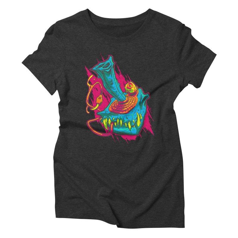 JOYSTICK MONSTER Women's Triblend T-shirt by Beastwreck