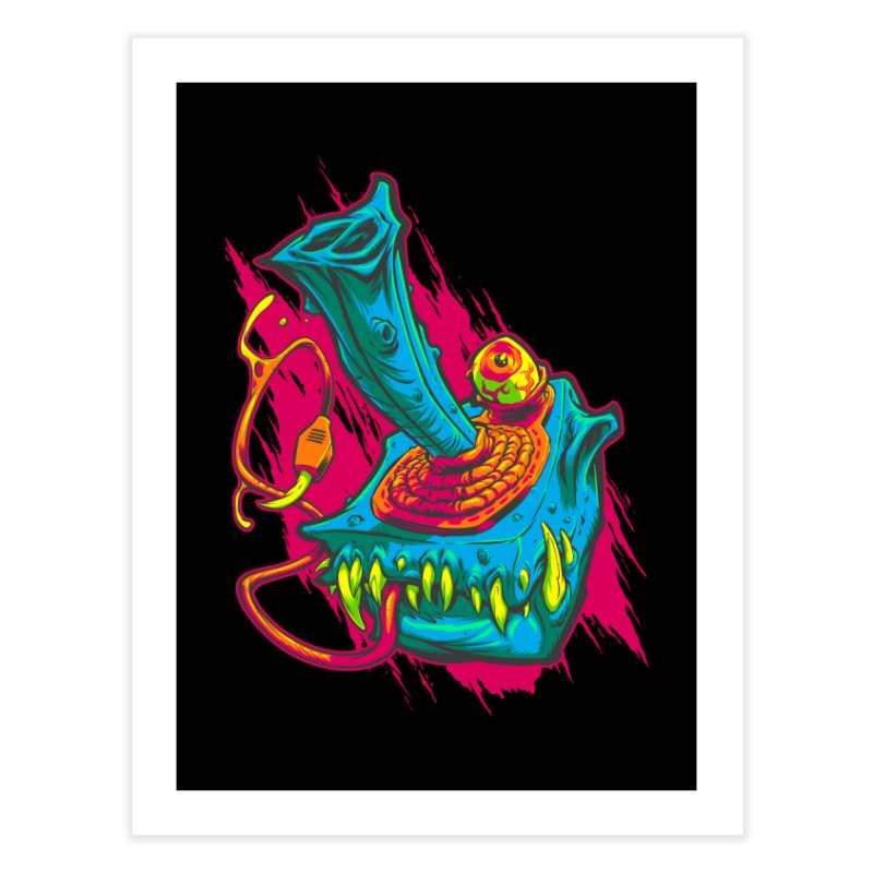 JOYSTICK MONSTER Home Fine Art Print by Beastwreck