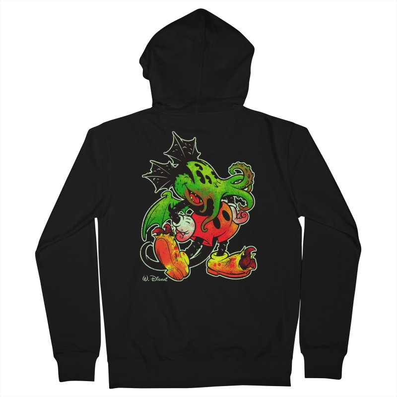MICKTHULHU MOUSE Men's Zip-Up Hoody by Beastwreck