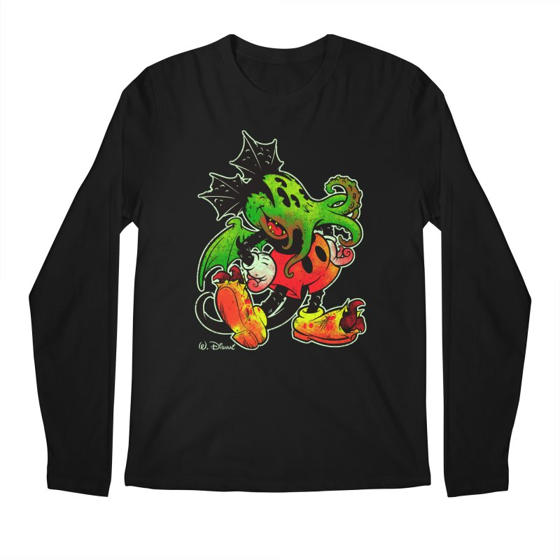 MICKTHULHU MOUSE Men's Longsleeve T-Shirt by Beastwreck