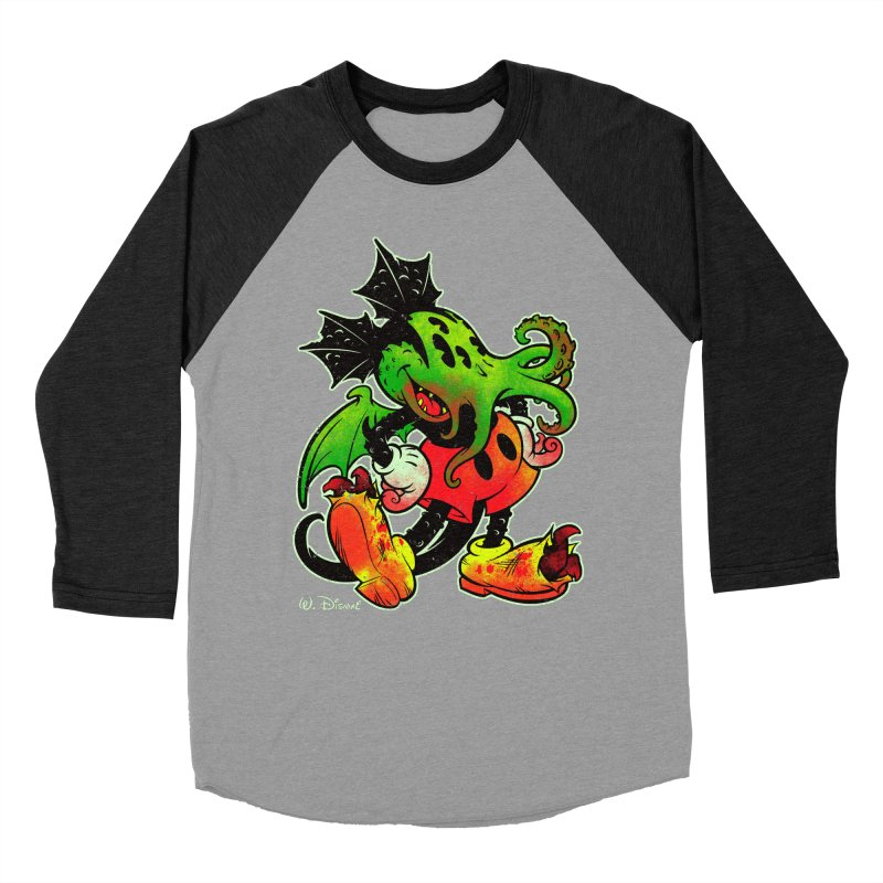 MICKTHULHU MOUSE Women's Baseball Triblend T-Shirt by Beastwreck