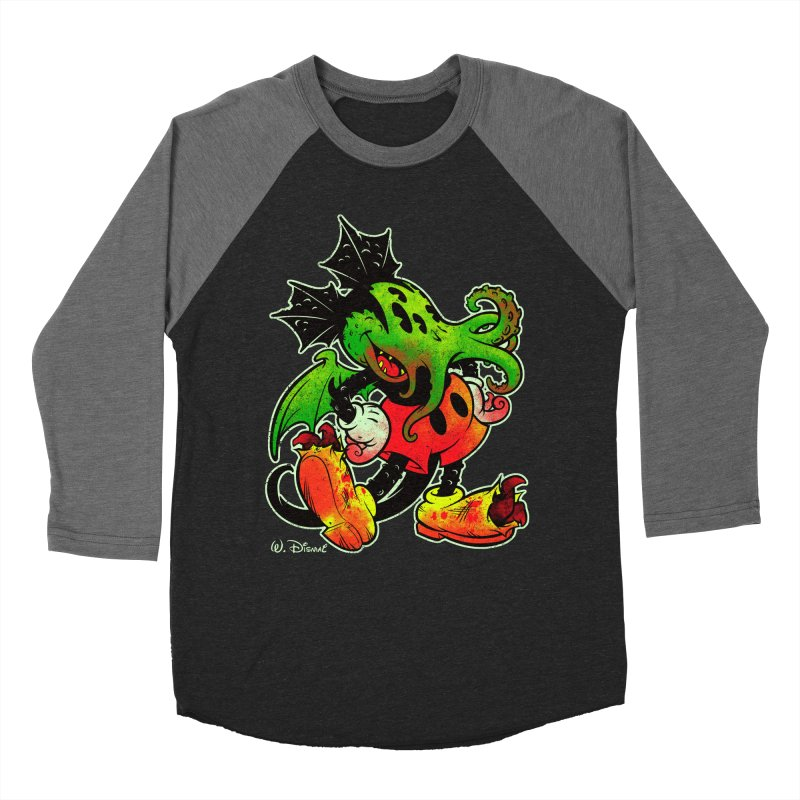 MICKTHULHU MOUSE Men's Baseball Triblend T-Shirt by Beastwreck