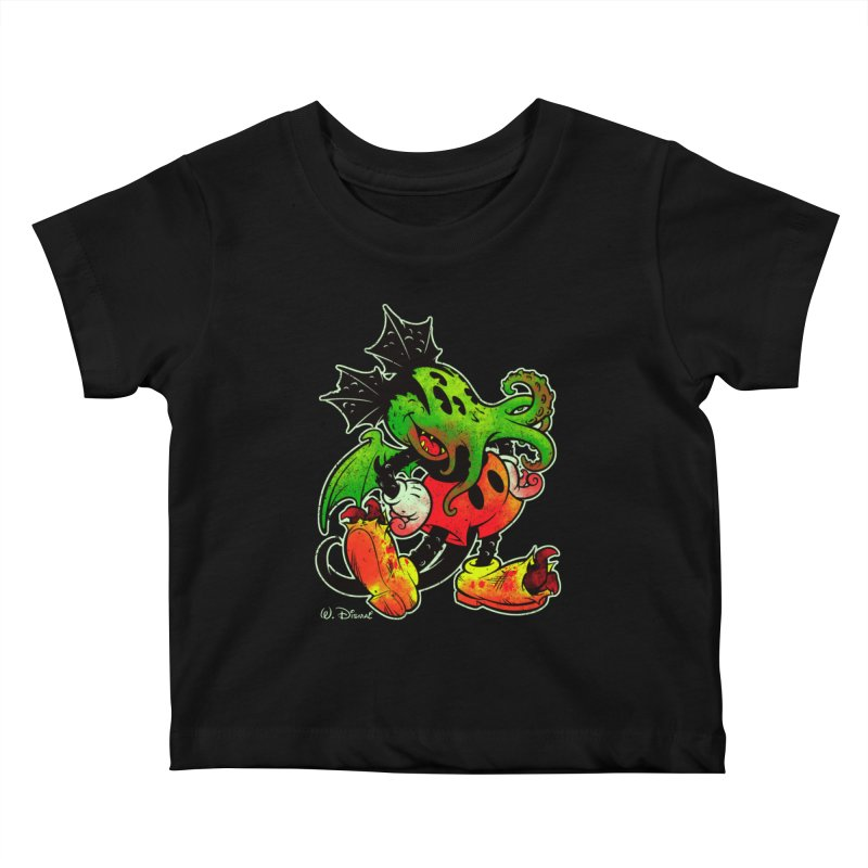 MICKTHULHU MOUSE Kids Baby T-Shirt by Beastwreck