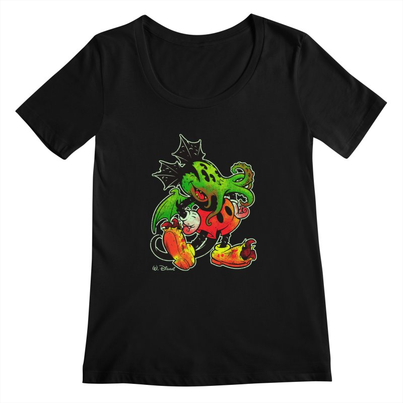 MICKTHULHU MOUSE Women's Scoopneck by Beastwreck