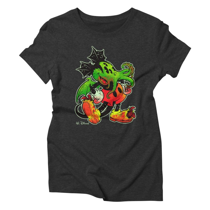 MICKTHULHU MOUSE Women's Triblend T-Shirt by Beastwreck