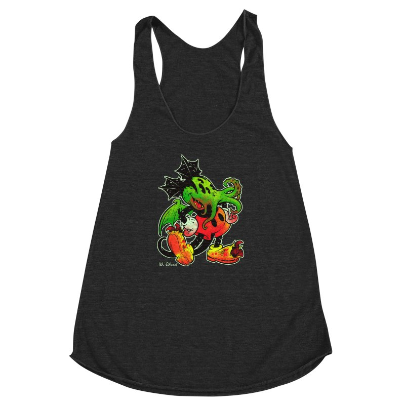 MICKTHULHU MOUSE Women's Racerback Triblend Tank by Beastwreck