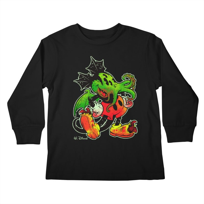 MICKTHULHU MOUSE Kids Longsleeve T-Shirt by Beastwreck