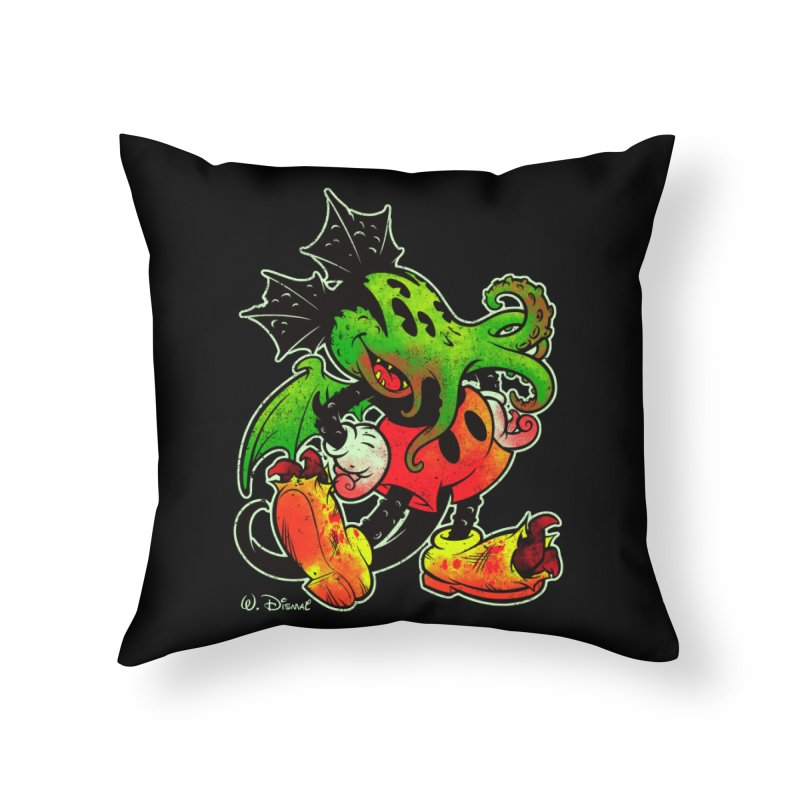 MICKTHULHU MOUSE Home Throw Pillow by Beastwreck