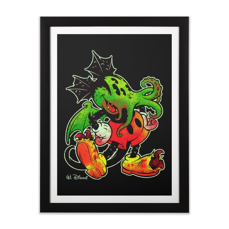 MICKTHULHU MOUSE Home Framed Fine Art Print by Beastwreck