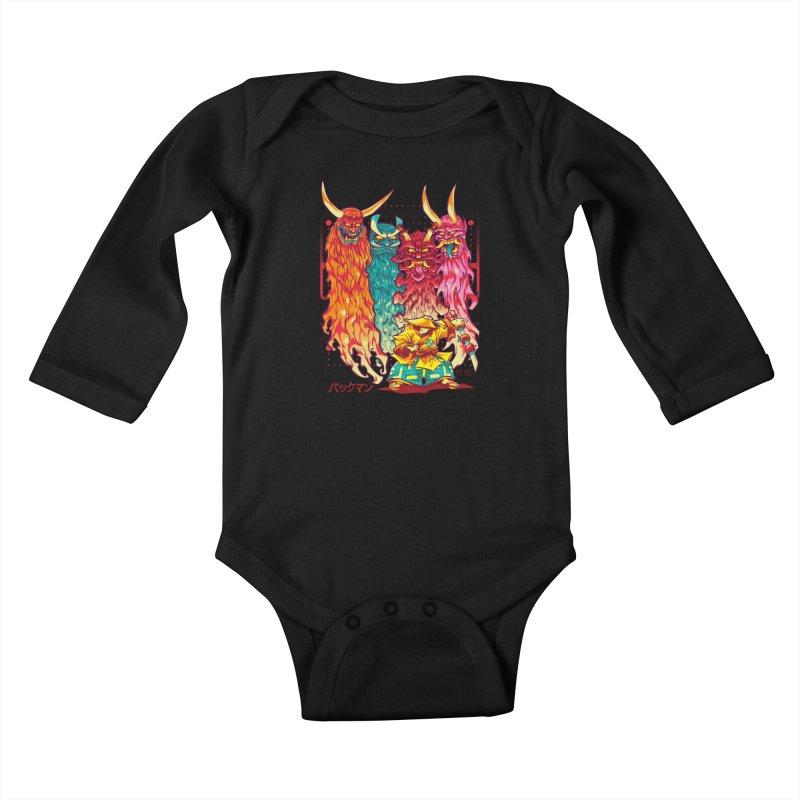 PAKKU-MAN Kids Baby Longsleeve Bodysuit by Beastwreck