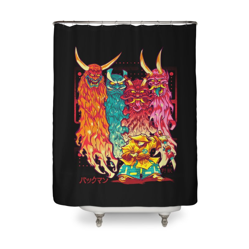 PAKKU-MAN Home Shower Curtain by Beastwreck