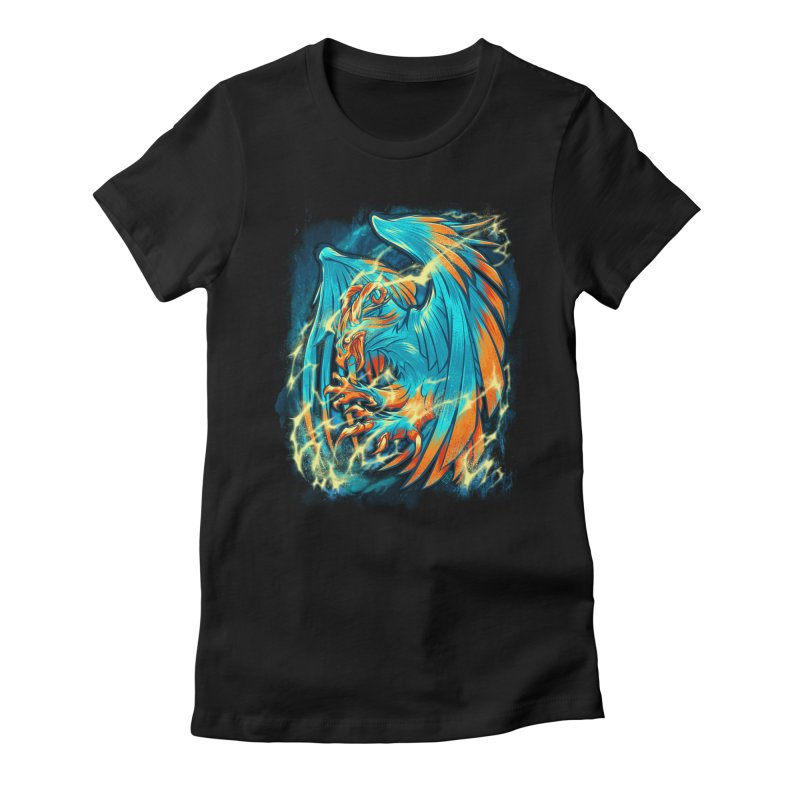 THUNDERBIRD Women's Fitted T-Shirt by Beastwreck