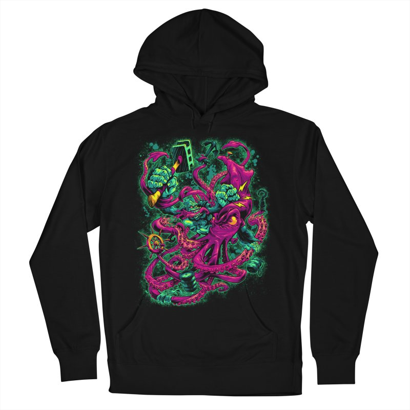 GORILLA VS. SQUID Women's Pullover Hoody by Beastwreck