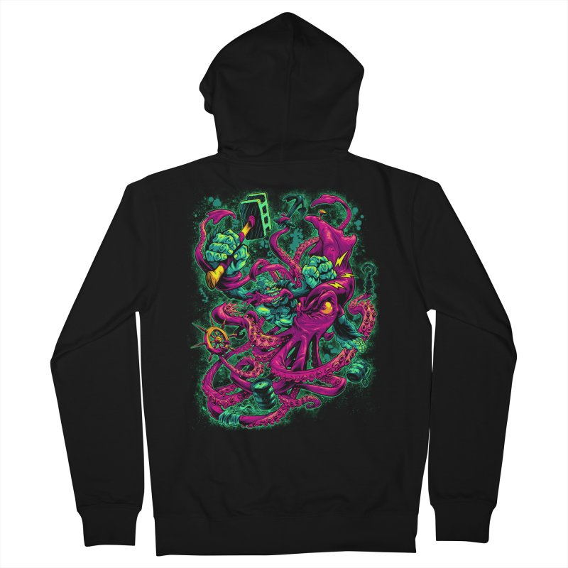 GORILLA VS. SQUID Women's Zip-Up Hoody by Beastwreck