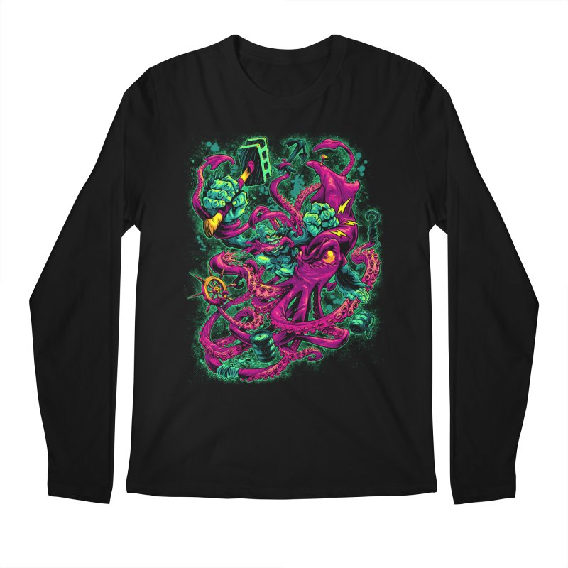 GORILLA VS. SQUID Men's Longsleeve T-Shirt by Beastwreck