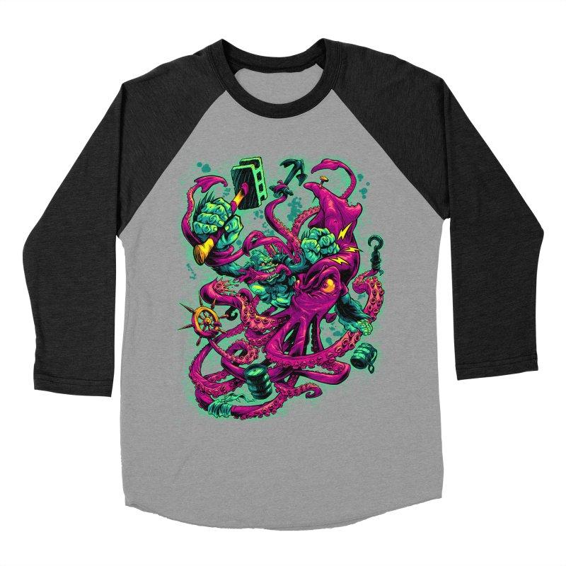 GORILLA VS. SQUID Men's Baseball Triblend T-Shirt by Beastwreck