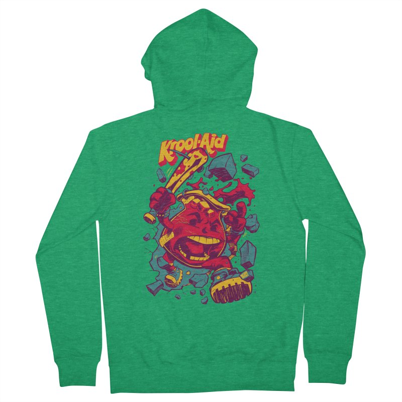 KROOL AID Men's Zip-Up Hoody by Beastwreck