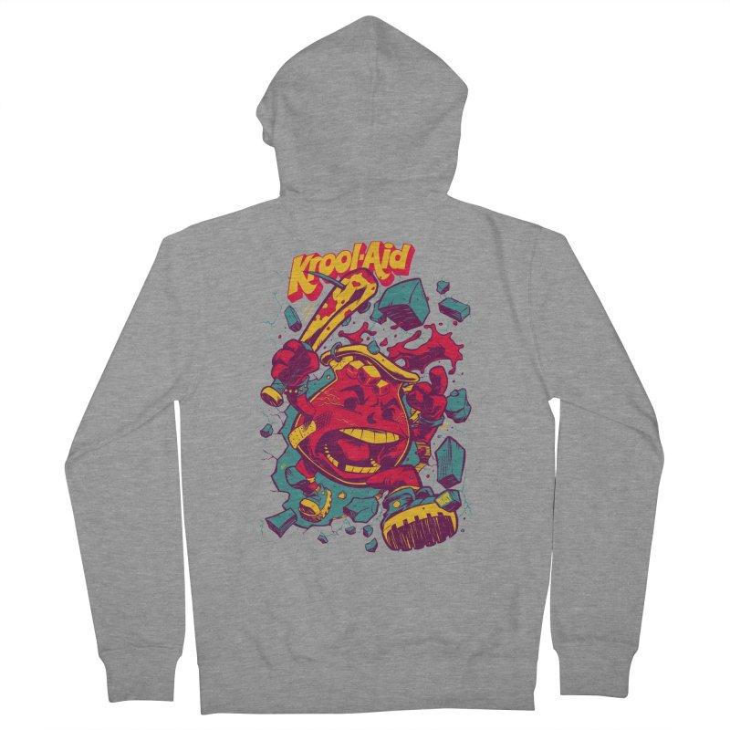 KROOL AID Men's Zip-Up Hoody by Beastwreck