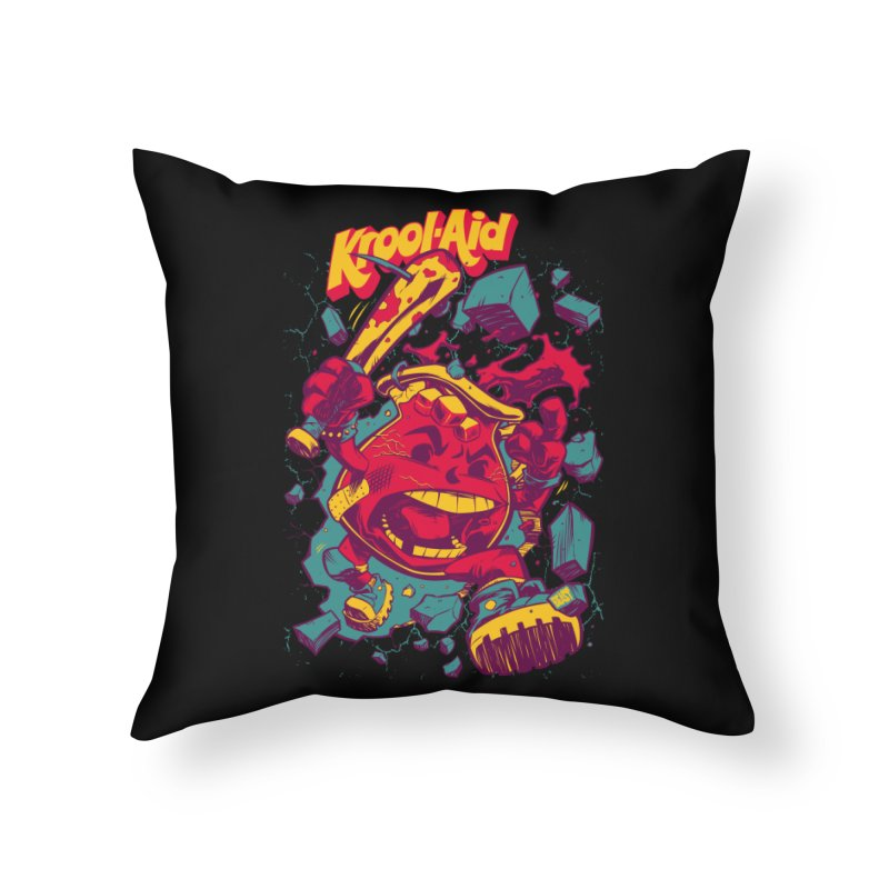 KROOL AID Home Throw Pillow by Beastwreck