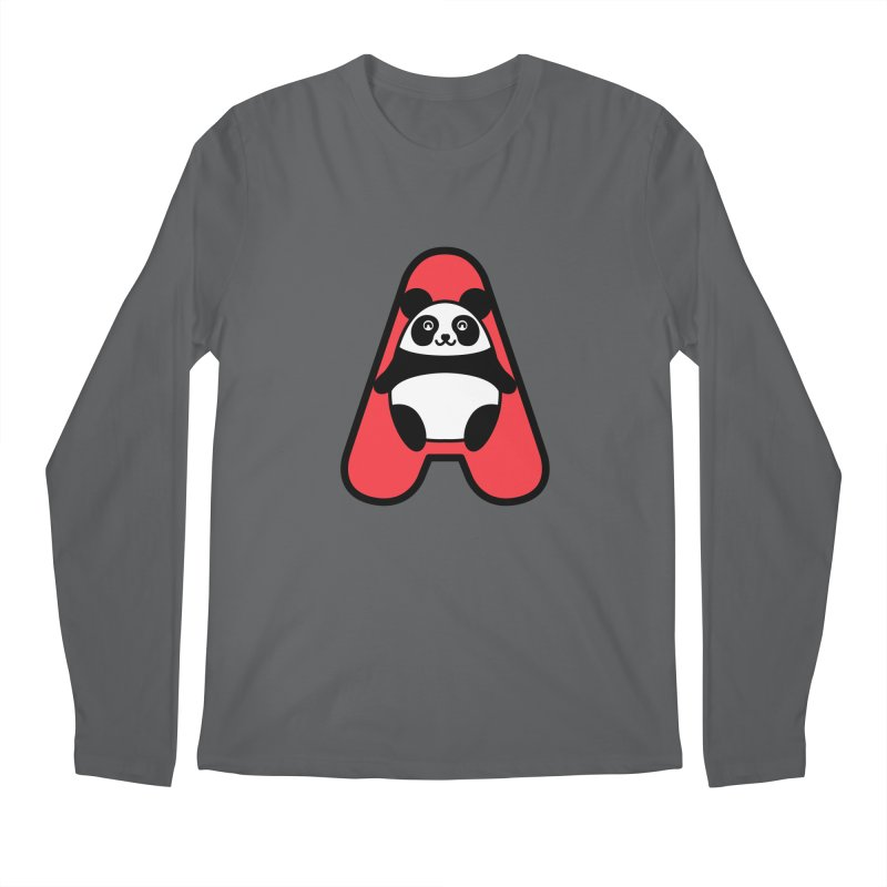 A happy panda Men's Regular Longsleeve T-Shirt by beatbeatwing's Artist Shop