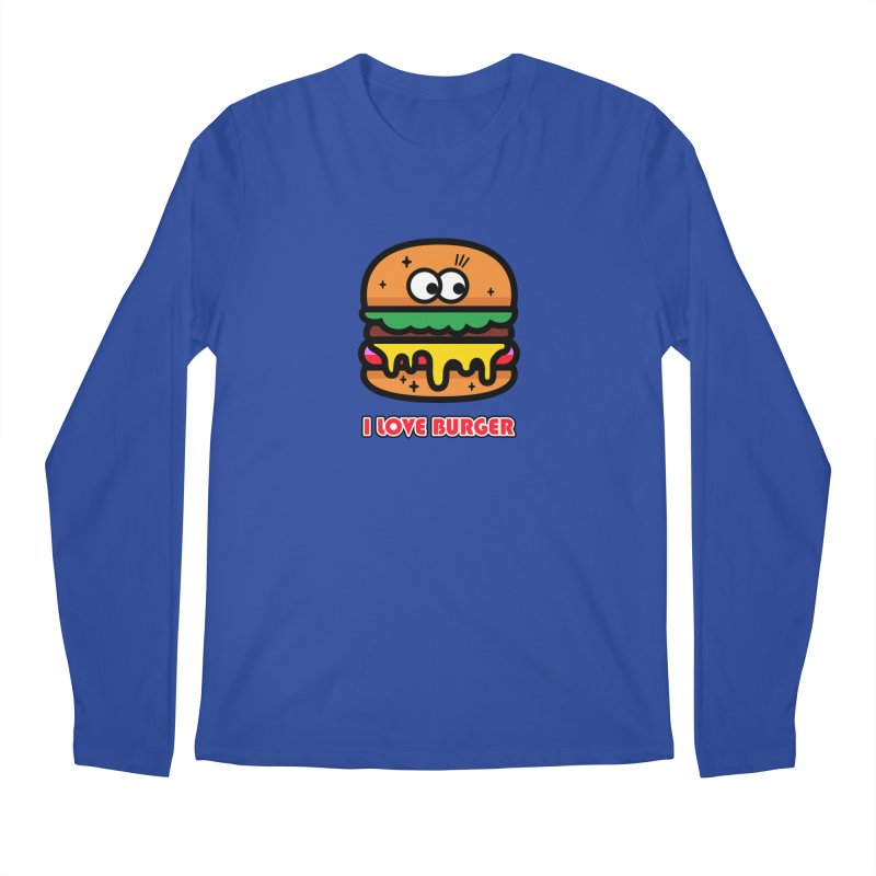 i love burger Men's Regular Longsleeve T-Shirt by beatbeatwing's Artist Shop