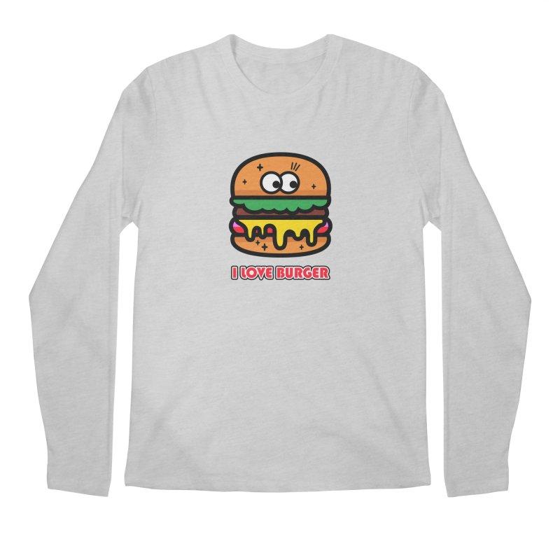 i love burger Men's Regular Longsleeve T-Shirt by beatbeatwing's Artist Shop