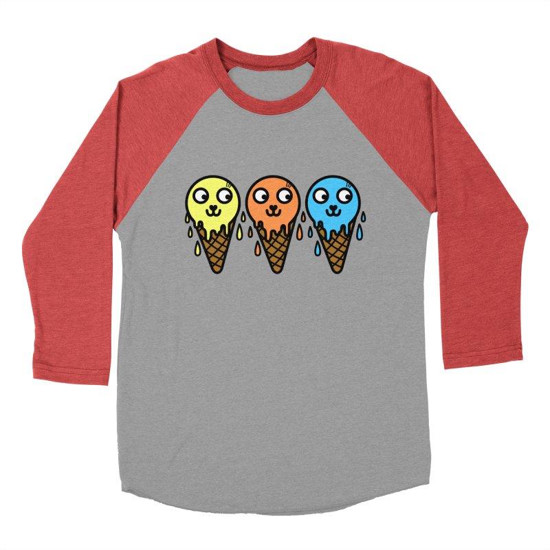 Melting icecream Women's Baseball Triblend Longsleeve T-Shirt by beatbeatwing's Artist Shop