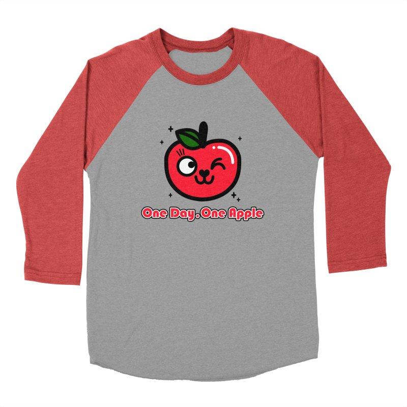 One day One Apple Women's Baseball Triblend Longsleeve T-Shirt by beatbeatwing's Artist Shop