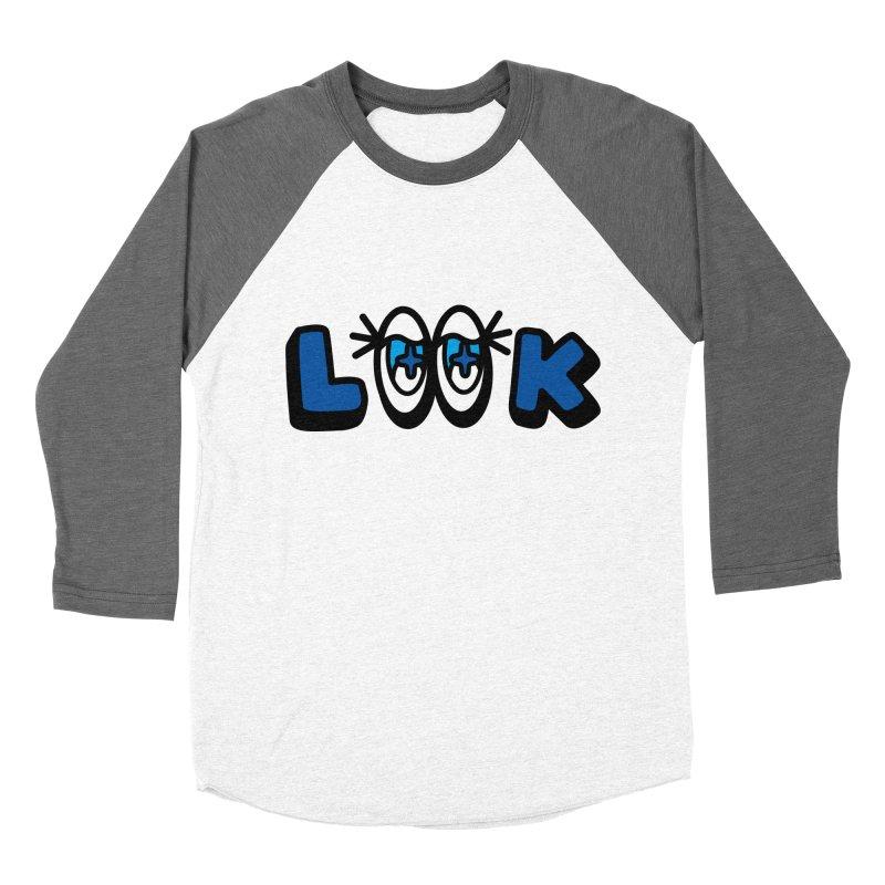 eyes on you Women's Baseball Triblend Longsleeve T-Shirt by beatbeatwing's Artist Shop