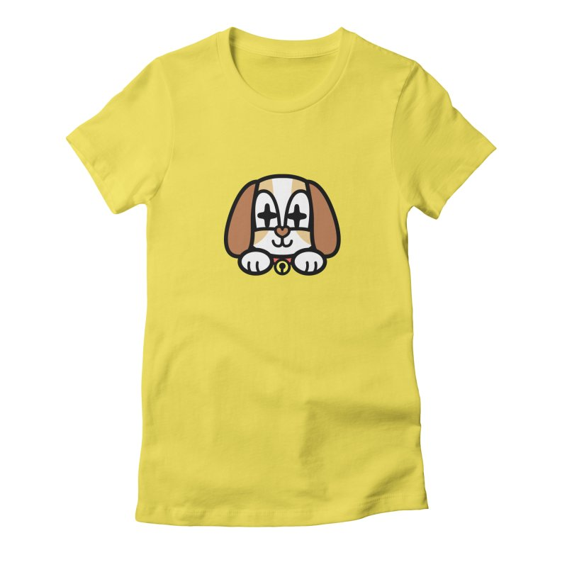FUNNY DOG Women's T-Shirt by beatbeatwing's Artist Shop