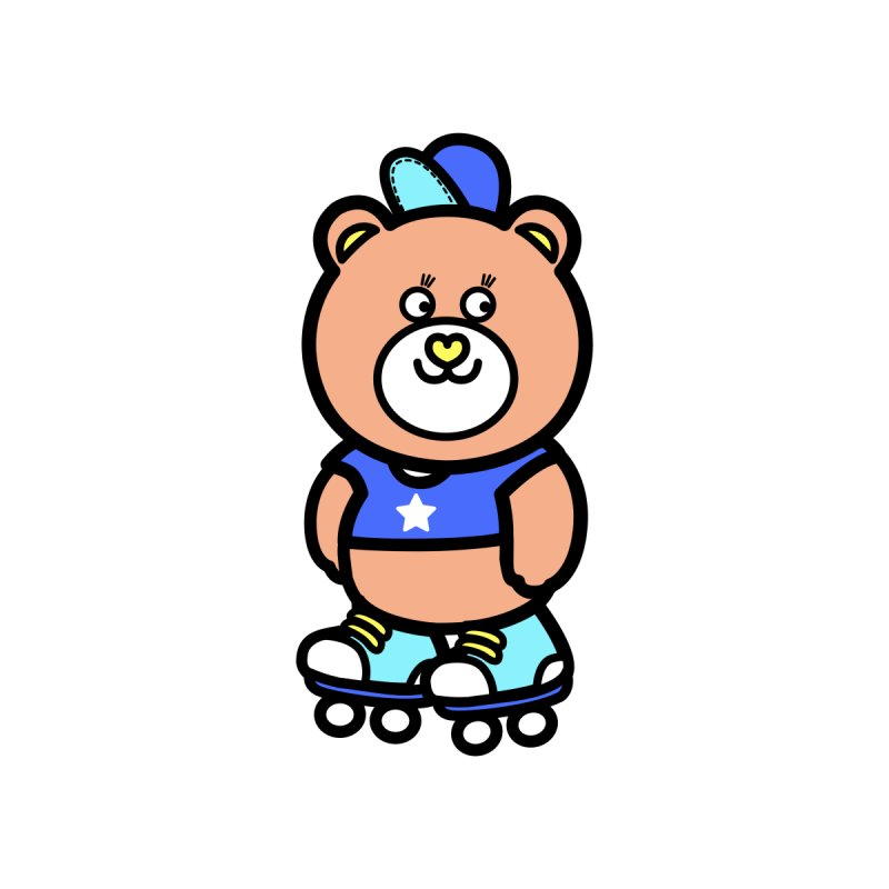 roller bike bear by beatbeatwing's Artist Shop