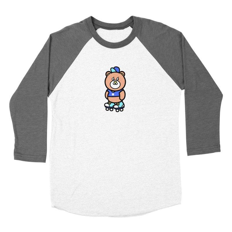 roller bike bear Women's Longsleeve T-Shirt by beatbeatwing's Artist Shop
