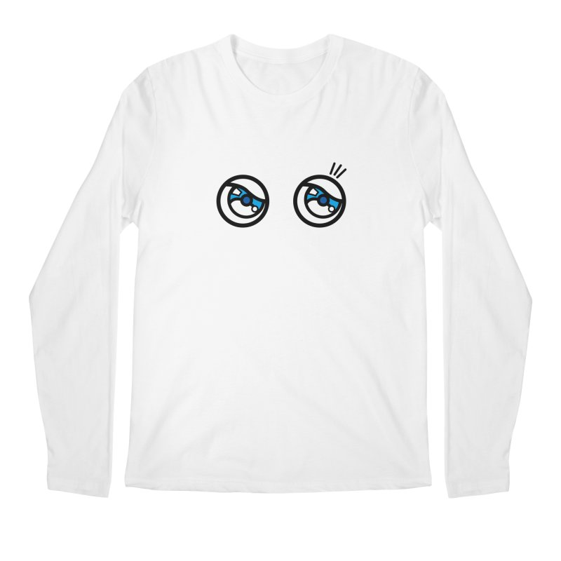 eyes on you Men's Regular Longsleeve T-Shirt by beatbeatwing's Artist Shop