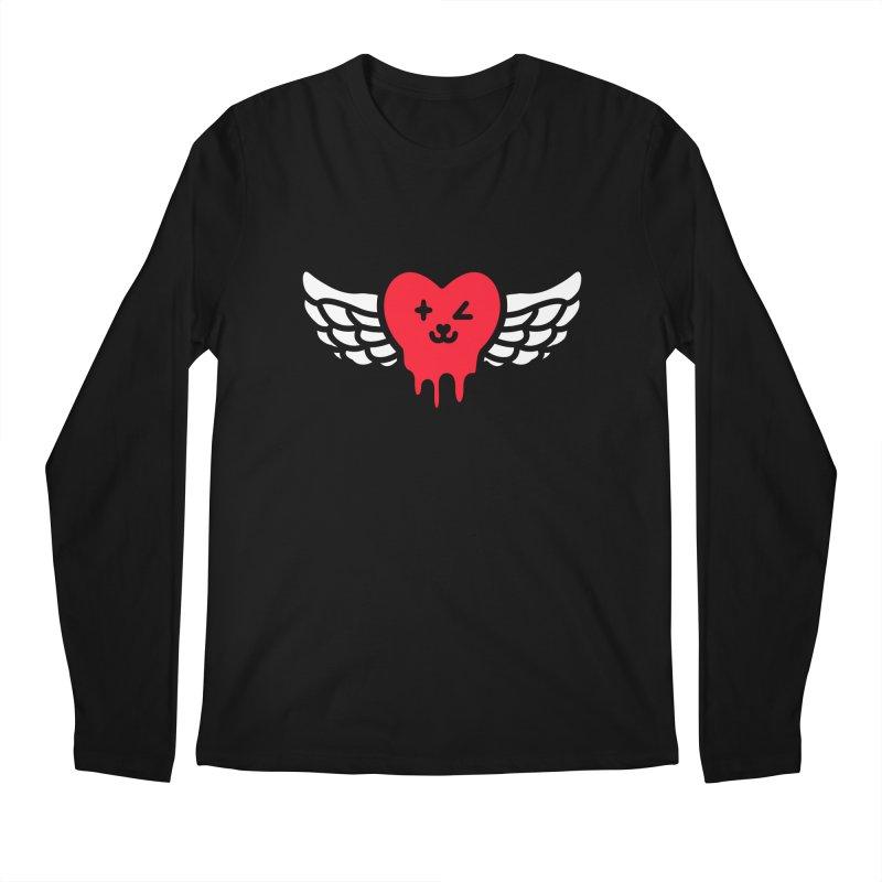flying heart Men's Regular Longsleeve T-Shirt by beatbeatwing's Artist Shop