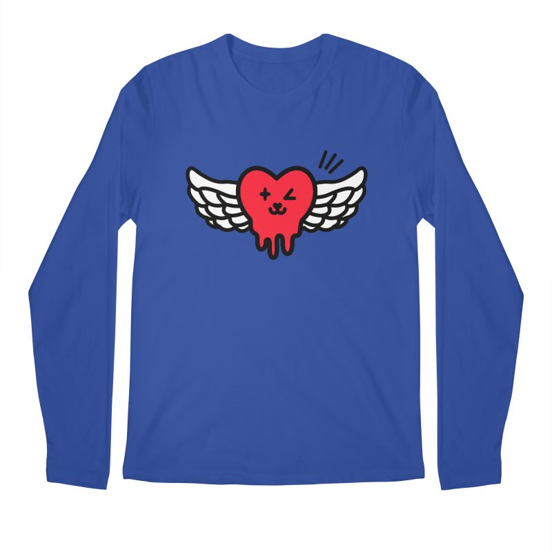 flying heart Men's Regular Longsleeve T-Shirt by beatbeatwing's Artist Shop