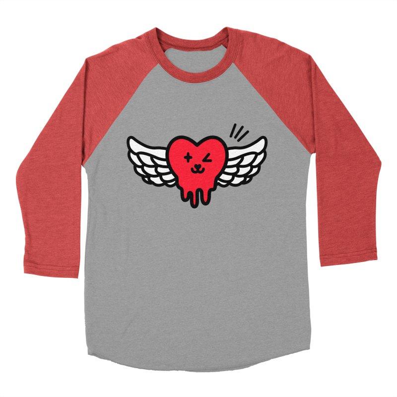 flying heart Women's Baseball Triblend Longsleeve T-Shirt by beatbeatwing's Artist Shop