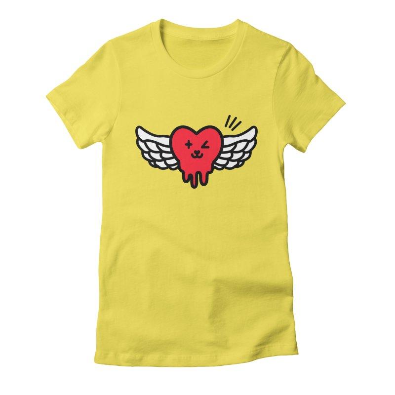 flying heart Women's T-Shirt by beatbeatwing's Artist Shop
