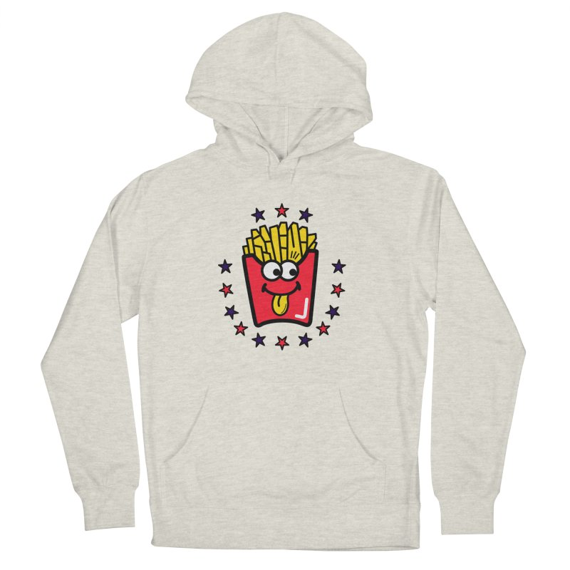 i love fries Women's French Terry Pullover Hoody by beatbeatwing's Artist Shop