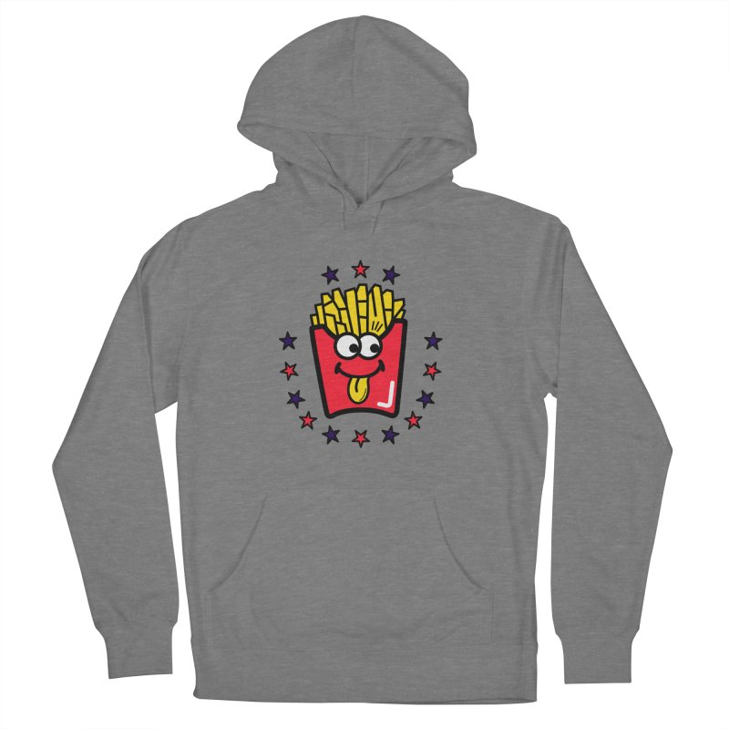 i love fries Men's French Terry Pullover Hoody by beatbeatwing's Artist Shop