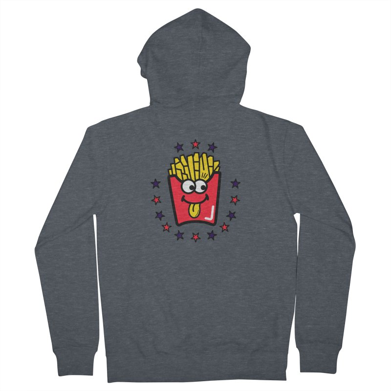 i love fries Women's Zip-Up Hoody by beatbeatwing's Artist Shop