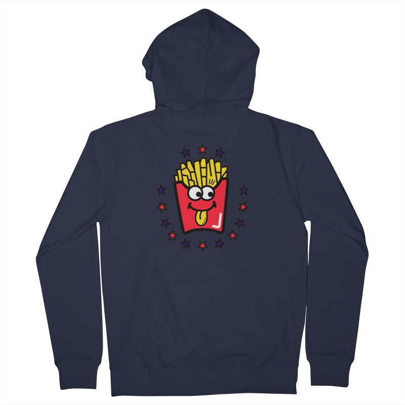 i love fries Men's French Terry Zip-Up Hoody by beatbeatwing's Artist Shop