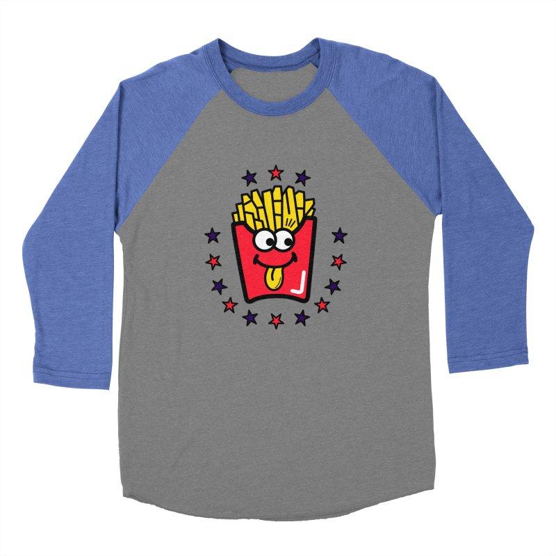i love fries Women's Baseball Triblend T-Shirt by beatbeatwing's Artist Shop