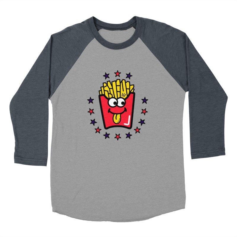 i love fries Women's Baseball Triblend Longsleeve T-Shirt by beatbeatwing's Artist Shop