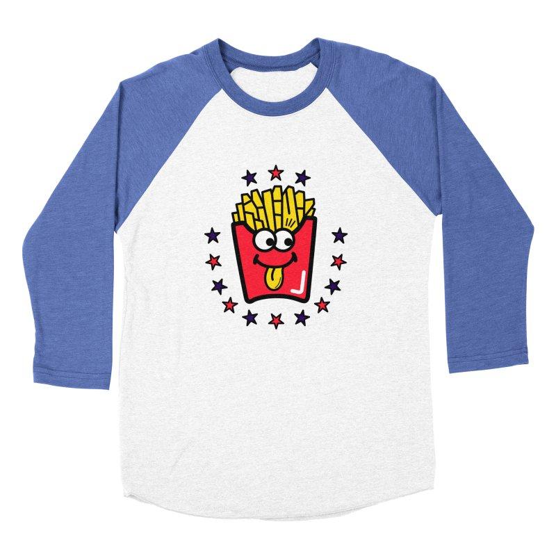 i love fries Men's Baseball Triblend Longsleeve T-Shirt by beatbeatwing's Artist Shop