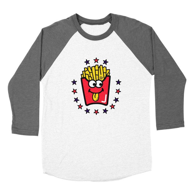 i love fries Men's Baseball Triblend T-Shirt by beatbeatwing's Artist Shop