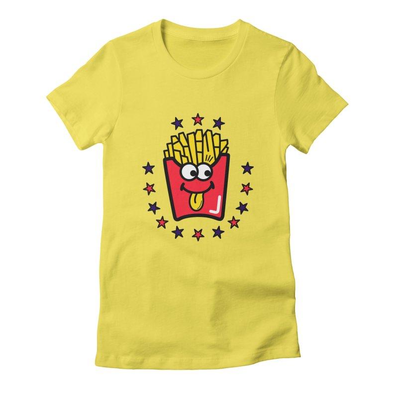 i love fries Women's T-Shirt by beatbeatwing's Artist Shop