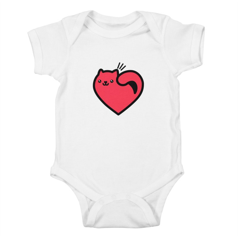 Lovely Kitty Kids Baby Bodysuit by beatbeatwing's Artist Shop