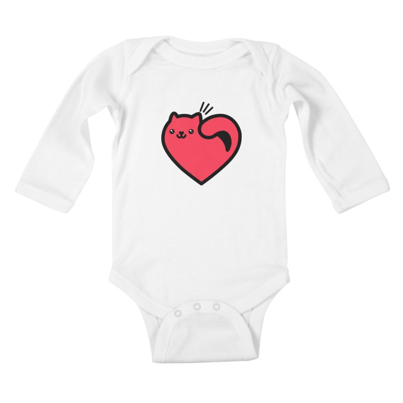 Lovely Kitty Kids Baby Longsleeve Bodysuit by beatbeatwing's Artist Shop